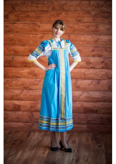 Сарафан «Дарья» голубой