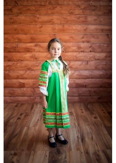 Сарафан «Дарья» зеленого цвета