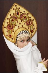 Кокошник «Надежда» цвет золотая парча