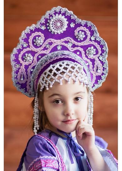 Кокошник «Лариса» фиолетовый
