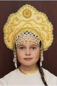 Кокошник «Лариса» золотой