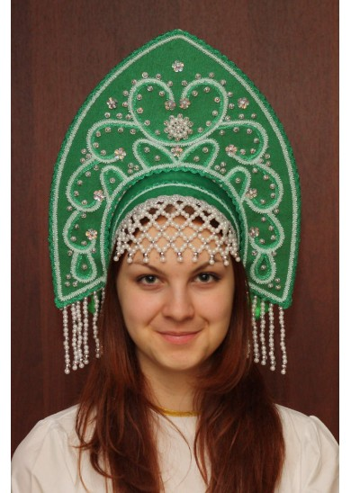 Кокошник «Анна» зеленый