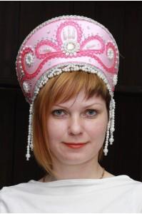 Кокошник «Виктория» розовый