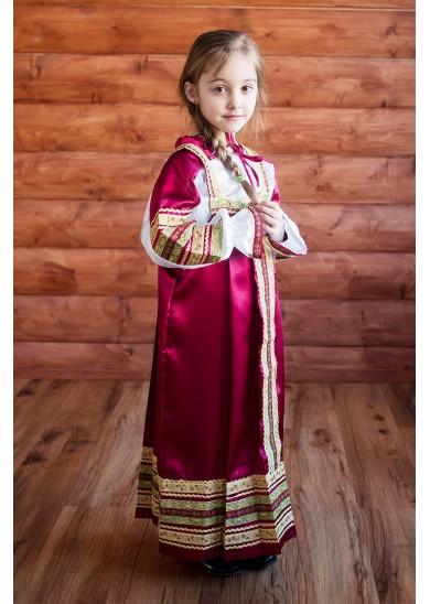 Сарафан «Алёнушка» бордового цвета