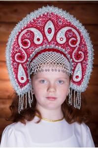 Кокошник «Ульяна» красный