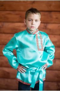 Косоворотка «Дмитрий» бирюзовая