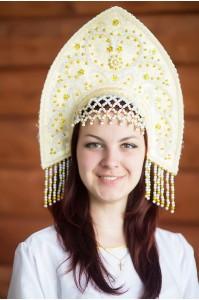 Кокошник «Анна» золотой цвет