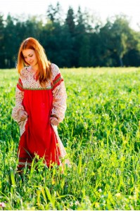 Платье «Забава» красное