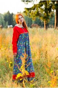 Платье «Любава» красное