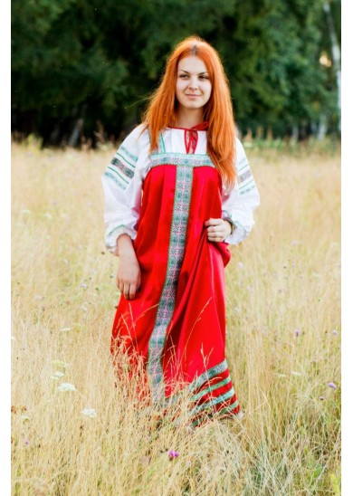 Сарафан «Алёнушка» красный
