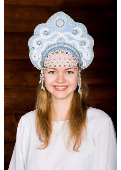 Кокошник «Лариса» голубой