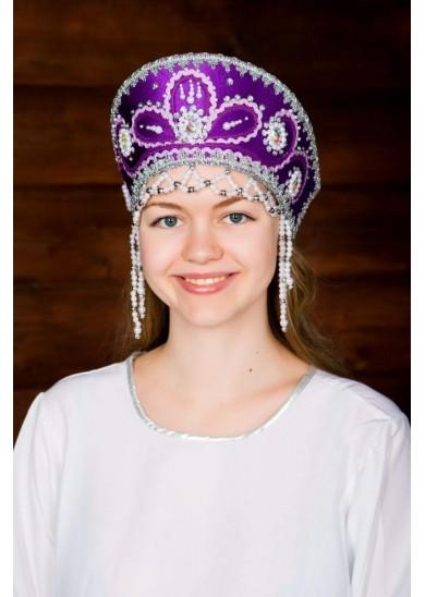 Кокошник «Виктория» фиолетовый