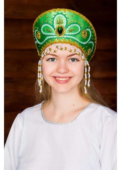 Кокошник «Виктория» зеленый