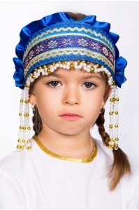 Кокошник «Инна» синий