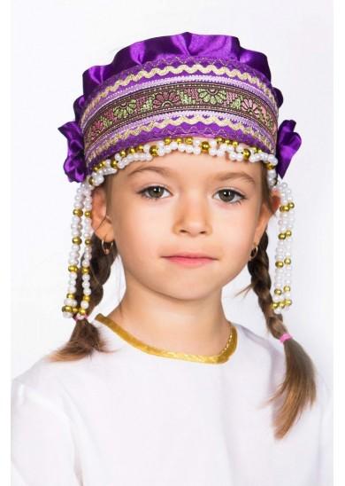 Кокошник «Инна» фиолетовый