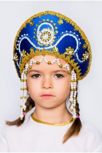 Кокошник «Алина» синий