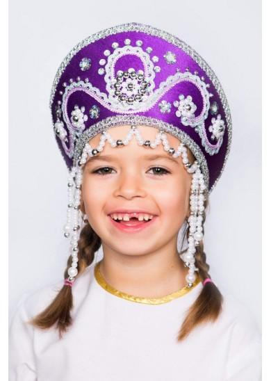 Кокошник «Алина» фиолетовый