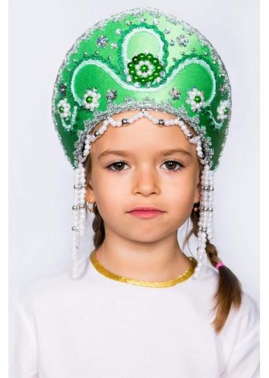 Кокошник «Алина» зеленый