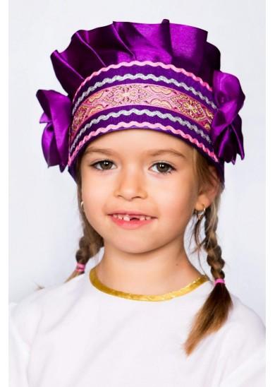 Кокошник «Настенька» фиолетовый