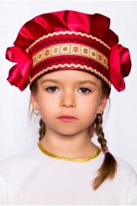 Кокошник «Настенька» бордовый