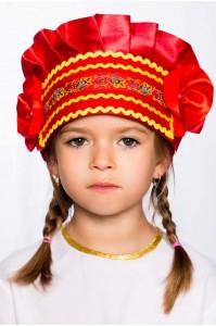 Кокошник «Настенька» красный