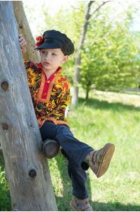 Картуз атласный детский черный