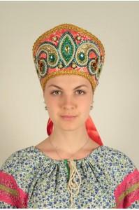 Кокошник «Александра» красный