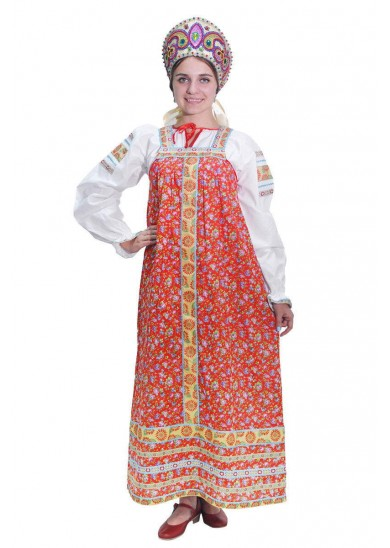 Сарафан «Наталья» красный