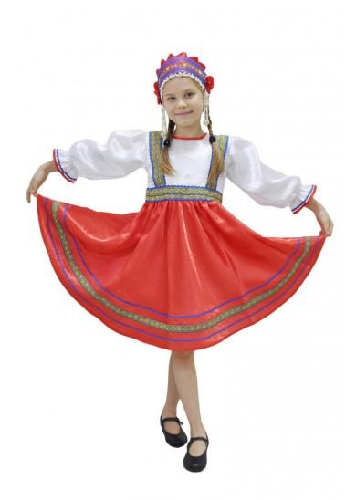 Платье «Сияна» красное
