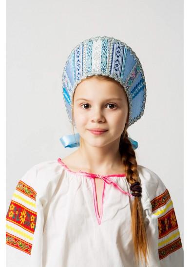 Кокошник «Марья» голубой