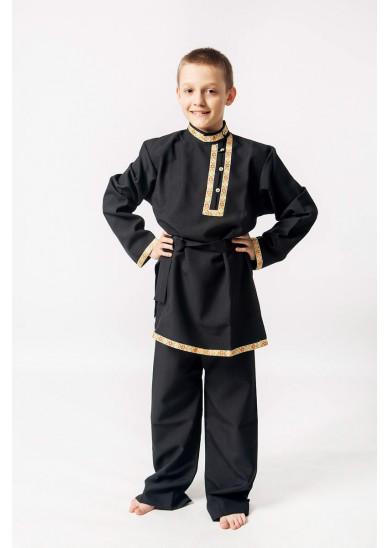 Косоворотка «Иван» черная