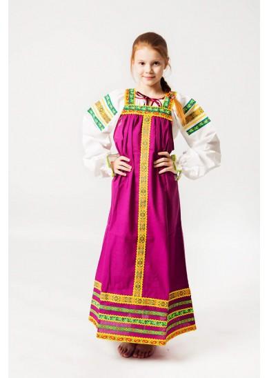 Сарафан «Дарья» фиолетового цвета