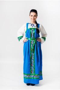 Сарафан «Арина» хлопок синий