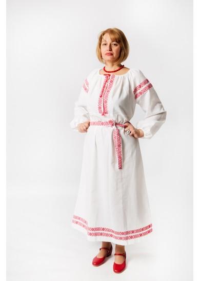 Платье «Варвара» лён белого цвета