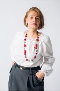 Блузка «Оленька» белая