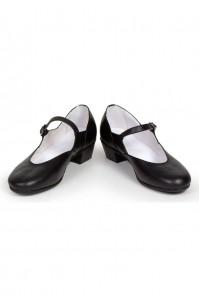 Чёрные туфли для русских народных танцев