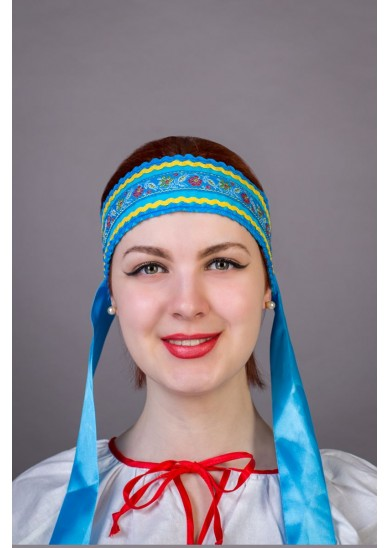 "Повязка "" Наталья"" голубая"