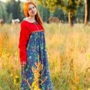 Современные платья в русском народном стиле