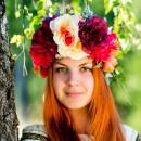 Венки на голову из искусственных цветов