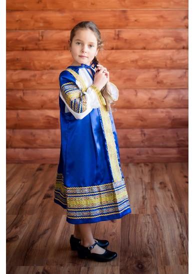 Сарафан «Алёнушка» синего цвета