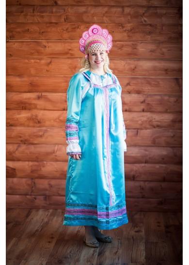 Сарафан «Алёнушка» голубой