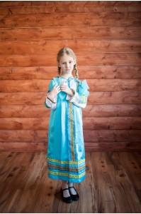 Сарафан «Алёнушка» голубого цвета
