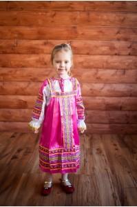 "Русский сарафан ""Алёнушка"" розовый"