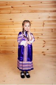 "Русский сарафан ""Алёнушка"" фиолетовый"