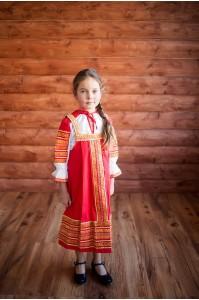 Сарафан «Дарья» красного цвета