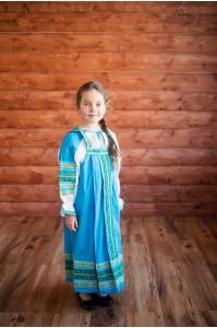 Сарафан «Дарья» голубого цвета