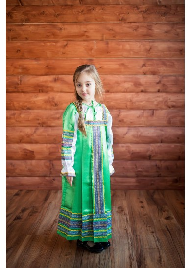 Сарафан «Алёнушка» зеленого цвета