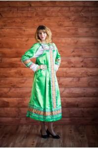 """Русский сарафан """"Алёнушка"""" зеленый"""