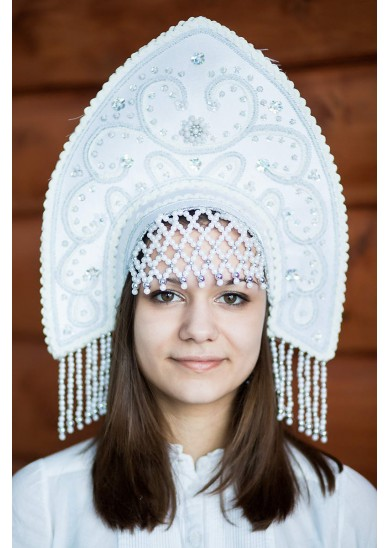 Кокошник «Анна» цвет белый