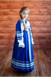 "Русский народный сарафан ""Дарья"" синий"